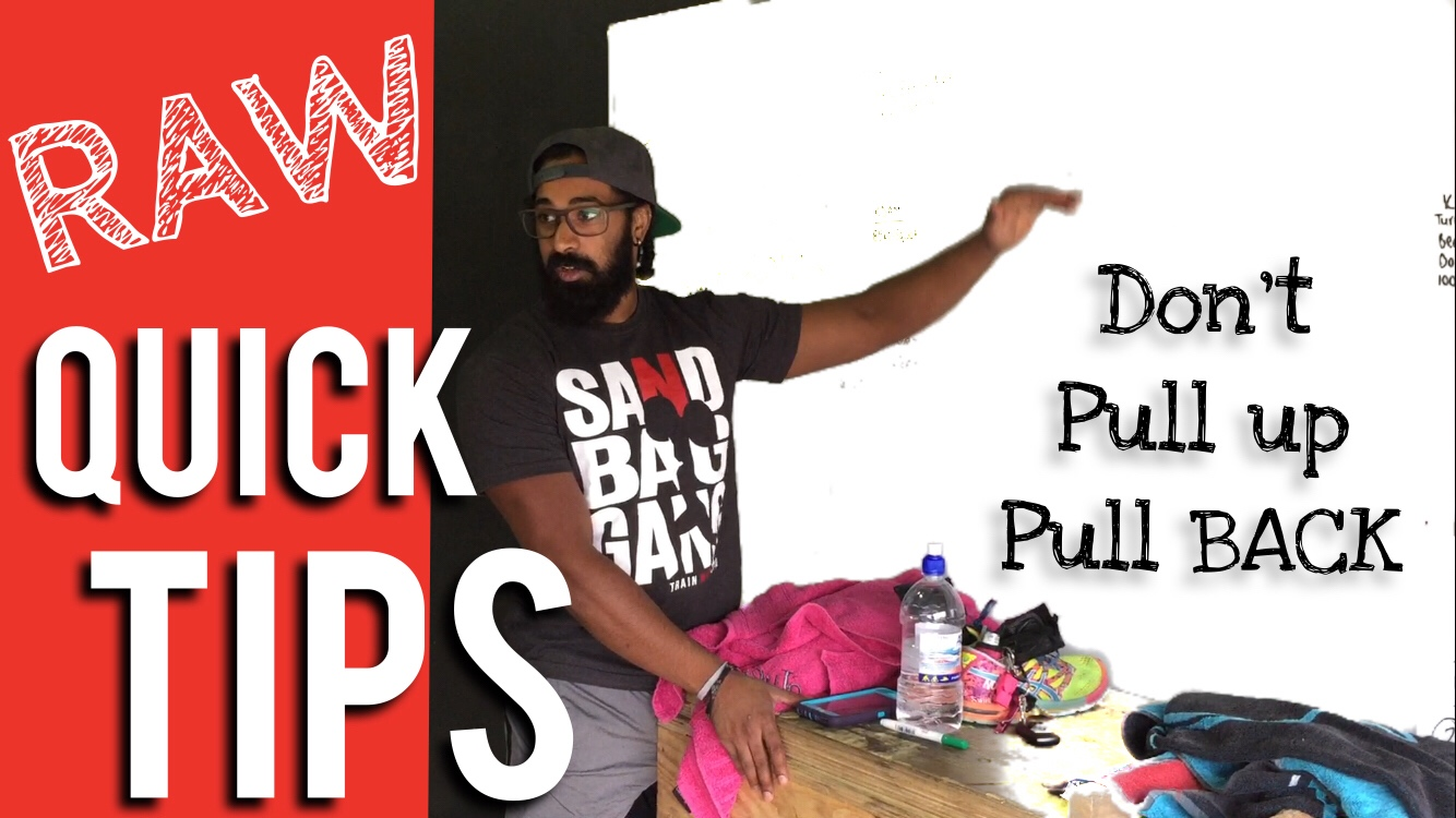 Pull Back NOT Up in High Pulls
