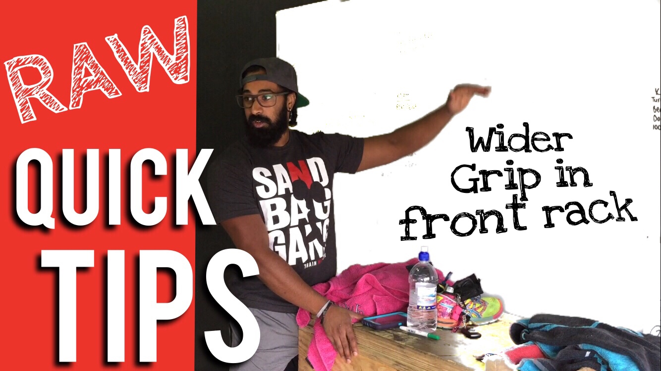 Wider Grip Front Rack | RAW Quick Tips